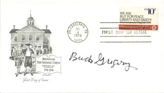 HAYDEN BUCK GREGORY - FIRST DAY COVER SIGNED
