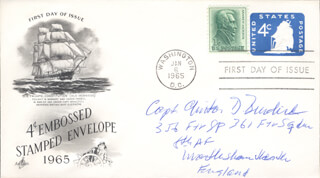 CAPTAIN CLINTON D. BURDICK - FIRST DAY COVER SIGNED