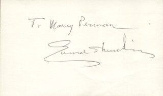 EDMUND S. MUSKIE - INSCRIBED SIGNATURE