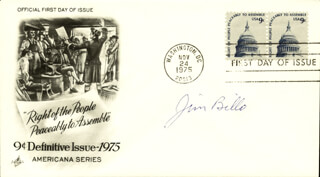 LT. COMMANDER JIM BILLO - FIRST DAY COVER SIGNED