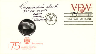Autographs: MAJOR RAYMOND M. BANK - FIRST DAY COVER SIGNED