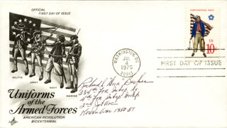 Autographs: RICHARD S. DICK BECKER - FIRST DAY COVER SIGNED