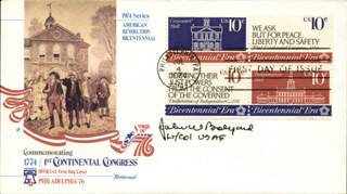 JOHN W. BOLYARD - FIRST DAY COVER SIGNED