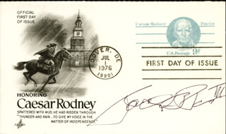 CAPTAIN JOEL B. PARIS III - FIRST DAY COVER SIGNED