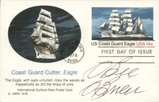 CAPTAIN WILLIAM O BEE O'BRIEN - FIRST DAY COVER SIGNED