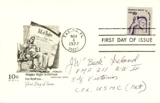 JULIUS W. BUCK IRELAND - FIRST DAY COVER SIGNED
