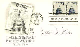 HOLLIS H. HILLS - FIRST DAY COVER SIGNED