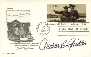 COLONEL ARTHUR C. FIEDLER JR. - FIRST DAY COVER SIGNED