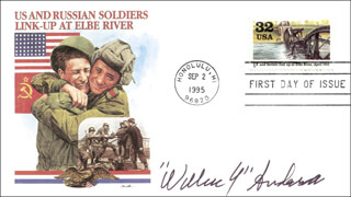 WILLIAM Y. ANDERSON - FIRST DAY COVER SIGNED