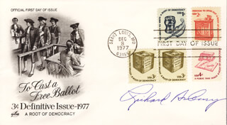 Autographs: RICHARD ASBURY - FIRST DAY COVER SIGNED