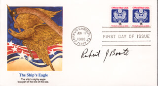 CAPTAIN ROBERT J. BOOTH - FIRST DAY COVER SIGNED