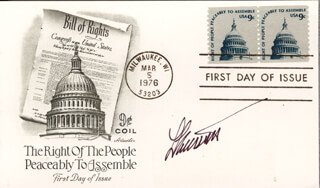 LESTER ARASMITH - FIRST DAY COVER SIGNED