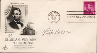 Autographs: NICK BACON - FIRST DAY COVER SIGNED