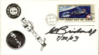 Autographs: GENE P. BRIDWELL - FIRST DAY COVER SIGNED 07/30/2003