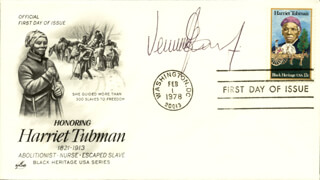 VERNON E. JORDAN JR. - FIRST DAY COVER SIGNED