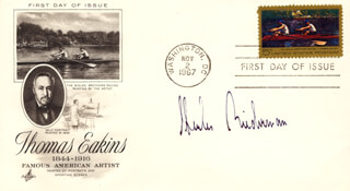 CHARLES BIEDERMAN - FIRST DAY COVER SIGNED
