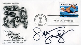 SUMMER SANDERS - FIRST DAY COVER SIGNED