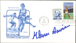 GLENN A. JEEP DAVIS - FIRST DAY COVER SIGNED