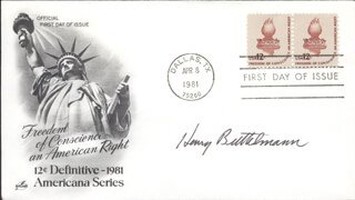 HENRY BUTTELMANN - FIRST DAY COVER SIGNED