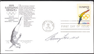 SAMMY LEE - FIRST DAY COVER SIGNED