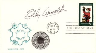 EDDY ARNOLD - FIRST DAY COVER SIGNED