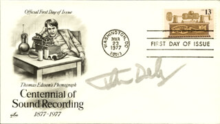 JOHN DEBNEY - FIRST DAY COVER SIGNED