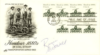 RONNIE MCDOWELL - FIRST DAY COVER SIGNED