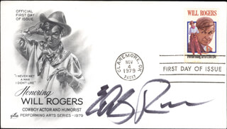 EDDY RAVEN - FIRST DAY COVER SIGNED