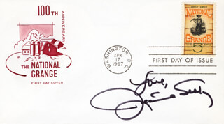 JEANNIE SEELY - FIRST DAY COVER WITH AUTOGRAPH SENTIMENT SIGNED