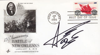 AARON TIPPIN - FIRST DAY COVER SIGNED