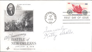 KITTY WELLS - FIRST DAY COVER SIGNED