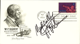 JERRY ICEMAN BUTLER - FIRST DAY COVER SIGNED