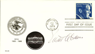 Autographs: ELLIOTT ABRAMS - FIRST DAY COVER SIGNED