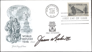 JAMES A. BAKER III - FIRST DAY COVER SIGNED