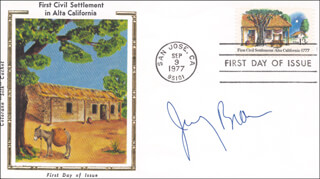 GOVERNOR JERRY BROWN - FIRST DAY COVER SIGNED