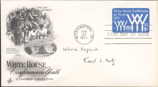 Autographs: EARL L. BUTZ - FIRST DAY COVER SIGNED