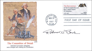 ROBERT H. BORK - FIRST DAY COVER SIGNED