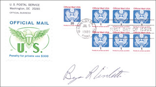 Autographs: BENJAMIN R. CIVILETTI - FIRST DAY COVER SIGNED