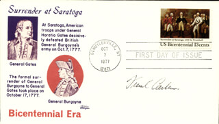 FRANK C. CARLUCCI - FIRST DAY COVER SIGNED