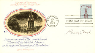 Autographs: RAMSEY CLARK - FIRST DAY COVER SIGNED