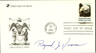 RAYMOND J. DONOVAN - FIRST DAY COVER SIGNED