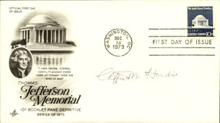 Autographs: CLIFFORD M. HARDIN - FIRST DAY COVER SIGNED