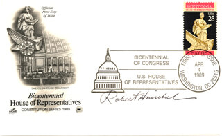 ROBERT H. MICHEL - FIRST DAY COVER SIGNED
