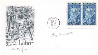 Autographs: RAY MARSHALL - FIRST DAY COVER SIGNED