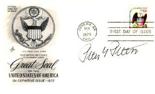 PETER G. PETERSON - FIRST DAY COVER SIGNED