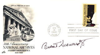 BRENT SCOWCROFT - FIRST DAY COVER SIGNED