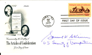 Autographs: SAMUEL SKINNER - FIRST DAY COVER SIGNED