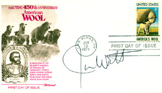 Autographs: JAMES G. WATT - FIRST DAY COVER SIGNED