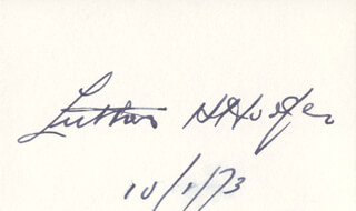Autographs: LUTHER H. HODGES - SIGNATURE(S) 10/01/1973