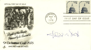 Autographs: FREDERICK BAILY DENT - FIRST DAY COVER SIGNED